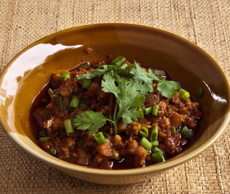 Chilli paste awng with pork ນ້ຳພິກອ່ອງ ຊີ້ນໝູ ຫຼື ເຕົາຮູ້ nam phik awng sin moo