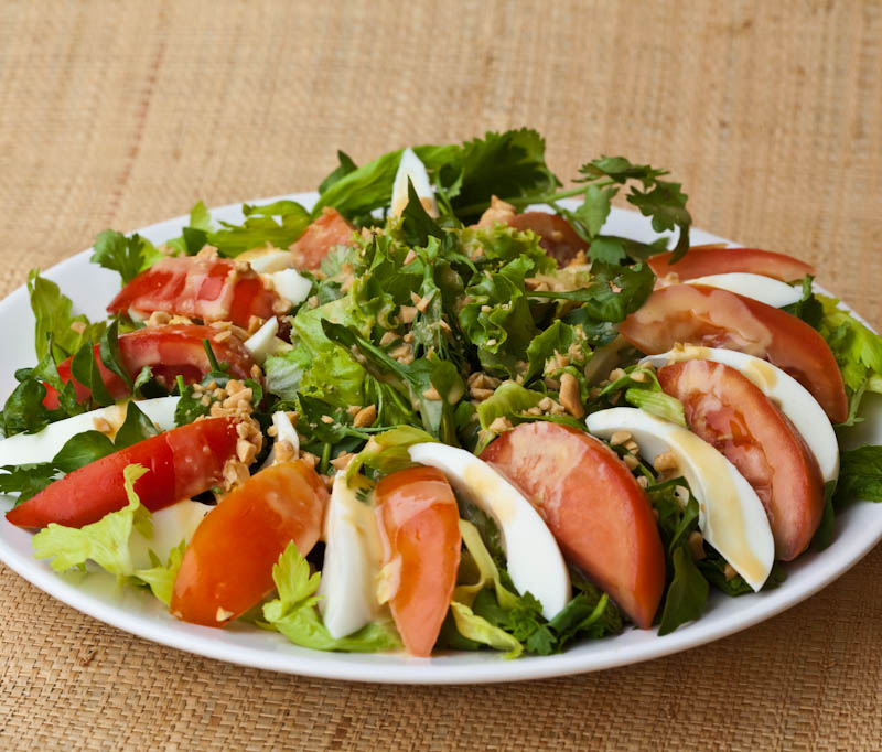Watercress salad, northern-style ຍຳ ຜັກສະຫຼັດ ຫຼວງພະບາງ yam pak salat Louang Phabang
