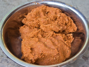 Tua nao paste after pounding is completed